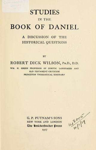 Studies in the Book of Daniel