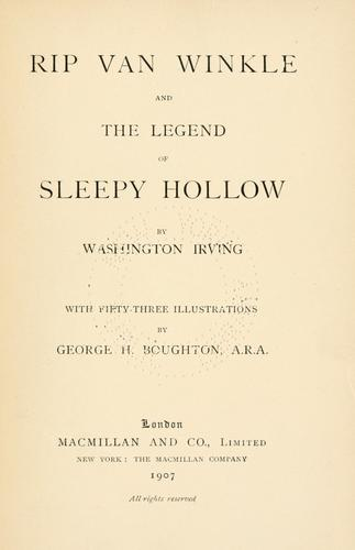 Rip Van Winkle ; and, The legend of Sleepy Hollow by Washington Irving