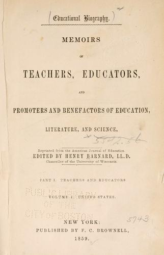 Educational biography. by Henry Barnard