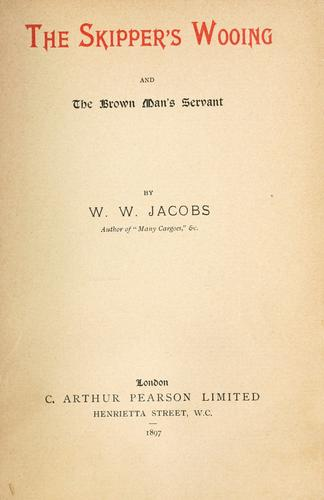 The skipper's wooing by W. W. Jacobs