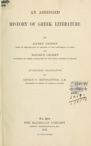 An abridged history of Greek literature