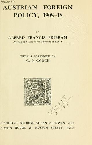 Austrian foreign policy, 1908-18