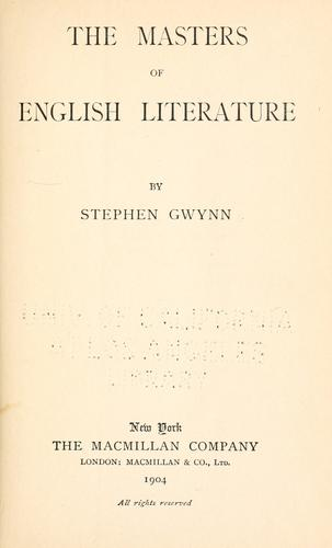 The masters of English literature.