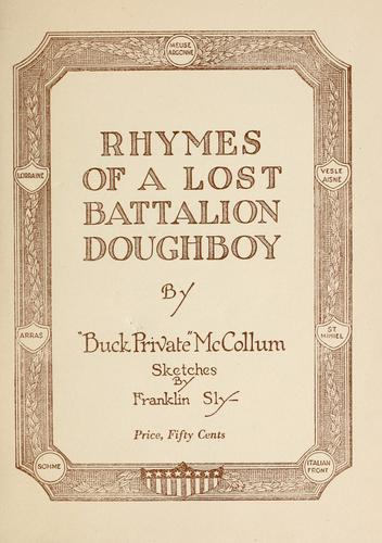 Rhymes of a lost battalion doughboy